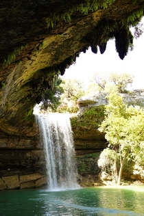 Waterfall cove outside Austin TX