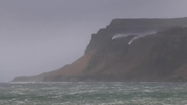 Waterfall flowing uphill during storm in Scotland  by Isle of Mull cottages on Daily Record website