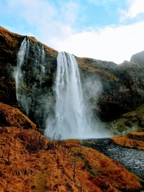 Waterfall In Iceland - Oct  -