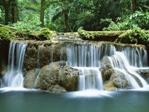 Waterfall in Kanchanaburi National Park Thailand