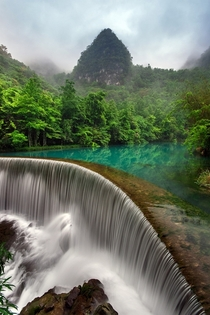 Waterfall in Libo Guizhou China