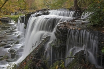 Waterfall in Old Stone Fort State Park TN