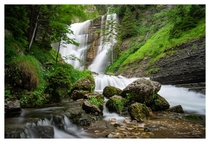 Waterfall in the French Alps shot with a  years old Tokina lens