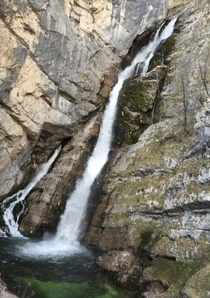 Waterfall in Triglav Nationalpark Slovenia