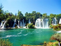 Waterfall Kravice Bosnia and Herzegovina  by Himzo Isic