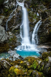 Waterfall near Briksdal Gracier in Norway  photo by Natalia Eriksson