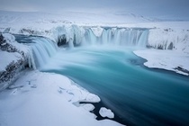 Waterfall of the Gods Goafoss Iceland  by Joshua Holko