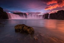Waterfall of the Gods - Goafoss in Iceland  by Raymond Hoffmann