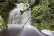 Waterfall on the Franklin River Tasmania Aus
