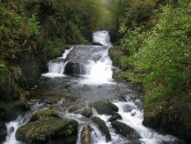 Waterfall on The River Lyn Devon England