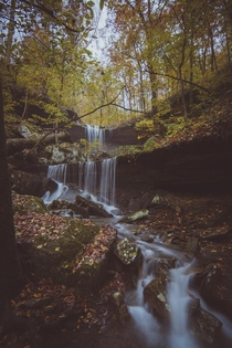 Waterfalls in Engagement Hollow Ozark Mountains