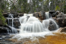 Waterfalls in the woods White Mountains National Forest