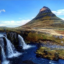 Waterfalls of Kirkjufell Iceland
