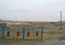 Waterfront of Aralsk Kazakhstan formerly on the banks of the Aral Sea