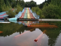 Waterslides at Fun Park Fyn Denmark - closed in August