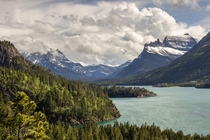 Waterton Lake in the very south of Alberta Canada
