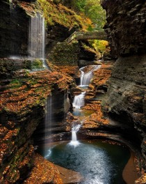 Watkins Glen Rainbow Falls USA