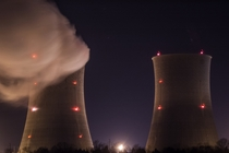 Watts Bar Nuclear Power Plant at Night Tennessee