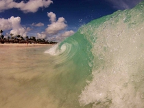 Wave breaking in Punta Cana