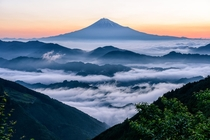 Waves and layers - Japans beautiful landscape with Mount Fuji in the distance  photo by Hidetoshi Kikuchi