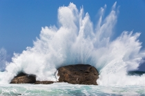 Waves crashing at Redgate Beach Western Australia OC