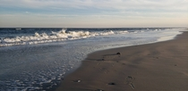 Waves crashing on the beach at Toms Cove Assateague VA