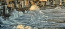 Waves in Saint-Malo Brittany France
