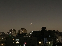 Waxing Crescent Tehran Iran right now at  pm
