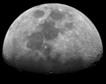 Waxing Gibbous Moon  picture mosaic