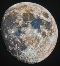 Waxing Gibbous Moon with a Small mm Telescope