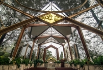 Wayfarers Chapel The Glass Chapel designed by Lloyd Wright - Long Beach CA