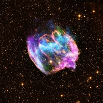 WB is a highly distorted supernova remnant produced by a rare type of explosion