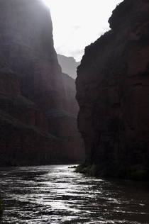 We alerted to the roar of the next rapid around the corner Colorado River Grand Canyon NP AZ    OC