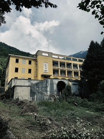 We came across what we believe was supposed to be a hotel on a hike in the Albanian mountains I then fell down the hill next to it assume its a cursed building