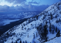 We got a little MUCH needed snow in the Sierra Nevada Mountains Shot this morning from the back side of Mt Rose