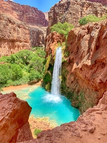 We got to see natural waterworks instead of man-made fireworks on July th weekend - Supai AZ USA