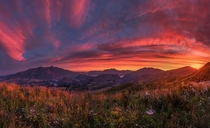 We had a ridiculously amazing sunset here in Queenstown New Zealand the other day and my roommate managed to snap this epic picture from Coronet Peak  south_of_home