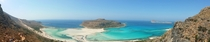 We hiked over a mountain and this was on the other side Balos Lagoon in Crete Greece