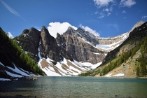 We see a lot of Lake Louise and Moraine lake but if you get out of the car and walk an hour you can get to Lake Agnes in the same region Go Alberta