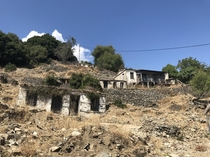 We took a drive up a mountain in Greece last summer The drive was terrifying and took  hours Id never do it again But Im glad we did it once as at the top was a whole abandoned village Some of the houses still had possessions inside