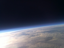 We took this picture from  feet above Texas with a Raspberry Pi The curve of the Earth and the blackness of space