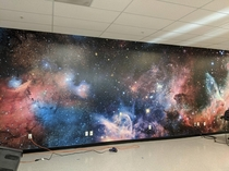 We vinyl wrapped our wall in SPACE