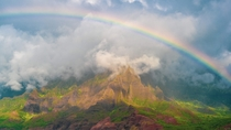 We visited Kauai last year There we swam the strongest Pacific waves enjoyed the pinkest sunset and this rainbow
