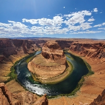 We were blown away by this view of the Horseshoe Bend Arizona