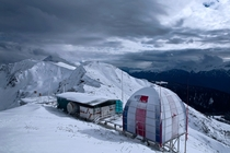 Weather station in the Western Caucasus near Sochi Russia