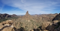 Weavers Needle in Superstition Mountains AZ USA x