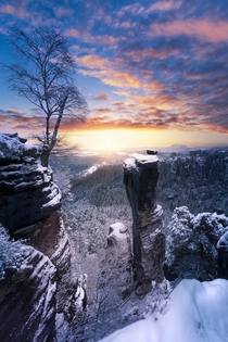 Wehlnadel in Saxon Switzerland Germany  by Jens Bhme