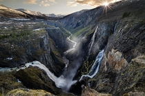 Welcome to the beginning of time Vringsfossen Waterfall Norway
