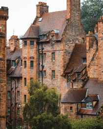 Well Court designed as model housing for local workers and finished in  in Dean Village Edinburgh Scotland