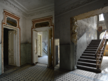 Well-kept abandoned manor that was used as tuberculosis hospital at one point oc